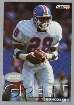1993 Fleer #182 Gaston Green Front