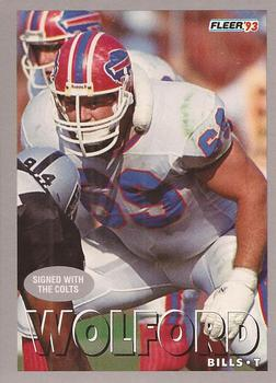 1993 Fleer #31 Will Wolford Front