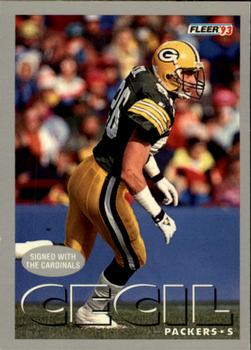 1993 Fleer #328 Chuck Cecil Front