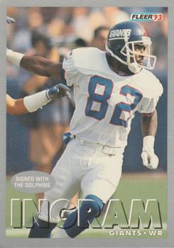 1993 Fleer #388 Mark Ingram Front