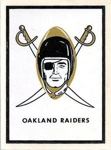 1960 Fleer - AFL Team Decals #NNO Oakland Raiders Logo Front