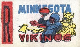 1961 Topps - Flocked Stickers #NNO Minnesota Vikings R Front