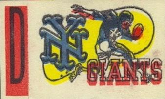 1961 Topps - Flocked Stickers #NNO New York Giants D Front