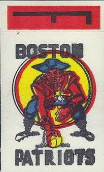 1961 Topps - Flocked Stickers #NNO Boston Patriots F Front