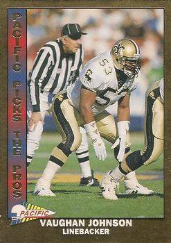 1993 Select #118 Vaughan Johnson NFL Football Trading Card