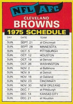 1975 Topps - Team Checklists #NNO Cleveland Browns Front