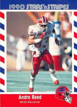 1990 Fleer Stars and Stripes #33 Andre Reed Front