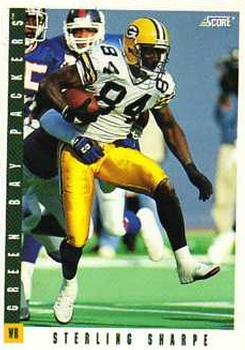 1993 Score #91 Sterling Sharpe Front