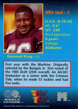 1987 Topps Emanuel King | PSA CardFacts™