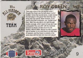 1993 Action Packed All-Madden #9 Roy Green Back
