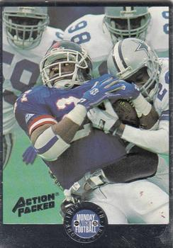 1994 Action Packed Monday Night Football #21 Rodney Hampton Front