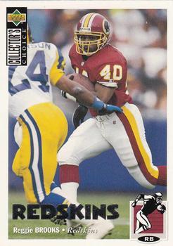 1994 Fleer Rookie Sensations #3 Reggie Brooks Washington Redskins Football Card