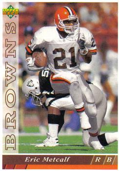 1993 Upper Deck #393 Eric Metcalf Front