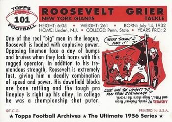 1994 Topps Archives 1956 #101 Roosevelt Grier Back