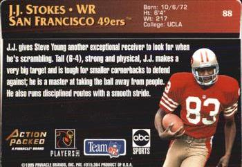 1995 Action Packed Monday Night Football #88 J.J. Stokes Back