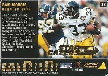 1995 Action Packed Rookies & Stars - Stargazers #33 Bam Morris Back