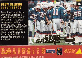 1995 Action Packed Rookies & Stars - Stargazers #48 Drew Bledsoe Back