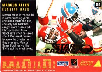 1995 Action Packed Rookies & Stars - Stargazers #50 Marcus Allen Back