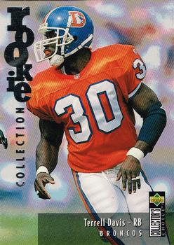 1995 Collector's Choice Update - Silver #U17 Terrell Davis Front