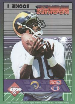 1994 Collector's Edge - Boss Rookies #1 Isaac Bruce Back