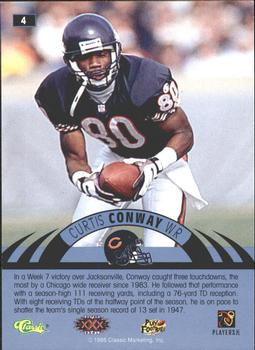 1996 Classic NFL Experience - Printer's Proofs #4 Curtis Conway Back