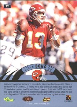 1996 Classic NFL Experience - Printer's Proofs #22 Steve Bono Back