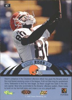 1996 Classic NFL Experience - Printer's Proofs #47 Andre Rison Back