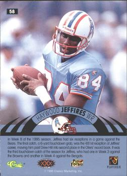 1996 Classic NFL Experience - Printer's Proofs #58 Haywood Jeffires Back