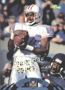 1996 Classic NFL Experience - Printer's Proofs #58 Haywood Jeffires Front