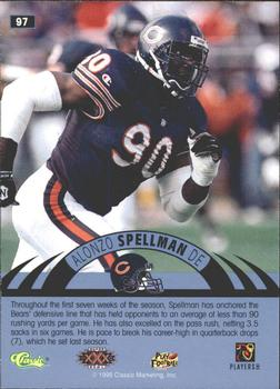1996 Classic NFL Experience - Printer's Proofs #97 Alonzo Spellman Back