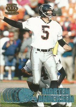 1997 Pacific - Platinum Blue #15 Morten Andersen Front