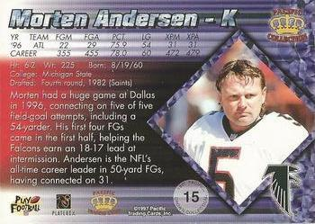 1997 Pacific - Silver #15 Morten Andersen Back