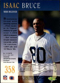 1994 Pro Line Live #358 Isaac Bruce Back