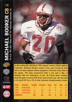 1997 Score Board NFL Rookies #13 Michael Booker Back
