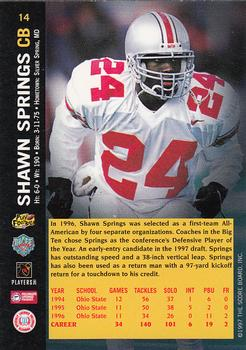 1997 Score Board NFL Rookies #14 Shawn Springs Back