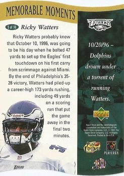 1997 Upper Deck - Memorable Moments #5 Ricky Watters Back