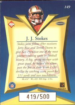 1998 Collector's Edge Masters - Gold Redemption 500 #149 J.J. Stokes Back