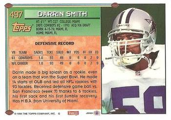 1994 Topps #497 Darrin Smith Back