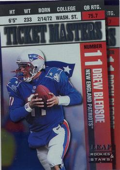 1998 Leaf Rookies & Stars - Ticket Masters #6 Drew Bledsoe / Robert Edwards Front