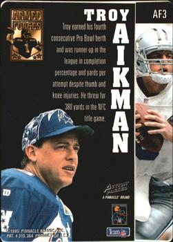 1995 Action Packed - Armed Forces #AF3 Troy Aikman Back