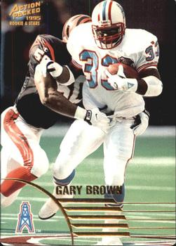 1995 Action Packed Rookies & Stars #8 Gary Brown Front