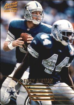 1995 Action Packed Rookies & Stars #38 Troy Aikman Front