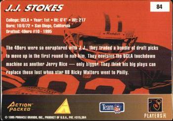 1995 Action Packed Rookies & Stars #84 J.J. Stokes Back