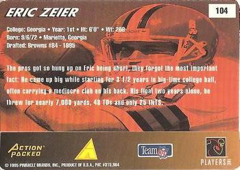 1995 Action Packed Rookies & Stars #104 Eric Zeier Back