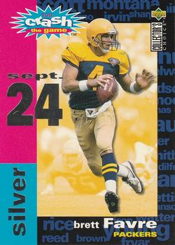 1995 Collector's Choice - Crash The Game #C6B Brett Favre Front