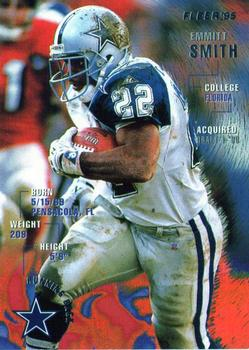 1995 Fleer #100 Emmitt Smith Front
