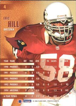 1995 Fleer #4 Eric Hill Back