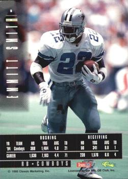 1995 Classic Images Limited #1 Emmitt Smith Back