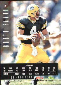 1995 Classic Images Limited #7 Brett Favre Back