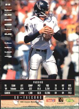 1995 Classic Images Limited #22 Jeff George Back